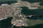 Vista aérea de la ciudad de Cienfuegos.
