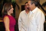 Raúl Castro y Vanda Pignato dialogaron acerca del desarrollo de las relaciones bilaterales.