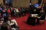 Chávez durante el encuentro con la prensa este martes en el Palacio de Miraflores.