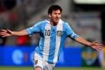 Leo Messi marcó el primer gol del partido Argentina-Chile.