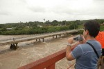 La crecida del Río Zaza denota el alcance de las lluvias.