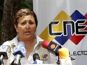 Tibisay Lucena, Presidenta del Poder Electoral.