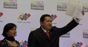 Chávez durante su proclamación como Presidente para el período 2013-2019.