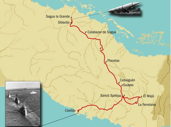 Ruta de los misiles. (Infografia: Eykel Águila)