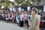 Raul Castro comparte con los pobladores de las provincias afectadas por Sandy (Foto: Cubadebate)