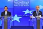 Durao Barroso (izq) y Van Rompuy, al término de la cumbre. (Foto AFP)