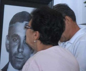 Familiares de Crescencio en el homenaje realizado en Yaguajay