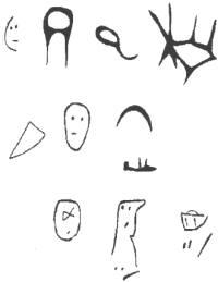 Arte rupestre encontrado en la cueva  El Garrote