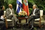Raúl y Michel Martelly en el Palacio de la Revolución. Foto: Ismael Francisco/Cubadebate.