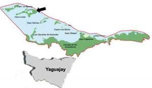 Ubicación Mapa Cayo Lucas, Yaguajay