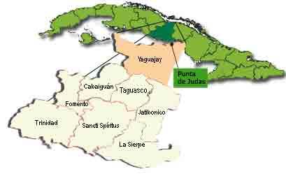 Mapa Punta de Judas. Yaguajay. Sancti Spíritus