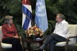 Raúl e Irina Bokova intercambiaron sobre el estado de los vínculos entre la Unesco y Cuba.