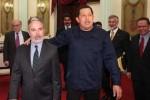 Chávez recibió este jueves al canciller brasileño Antonio Patriota.