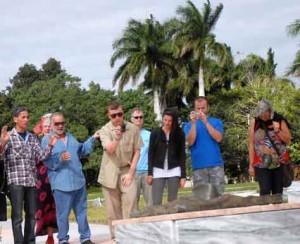 Los integrantes de la Brigada Nórdica figuraron entre los visitantes.