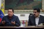 Chávez junto a Maduro durante la última alocución del Presidente al pueblo. (foto: Prensa Presidencial)