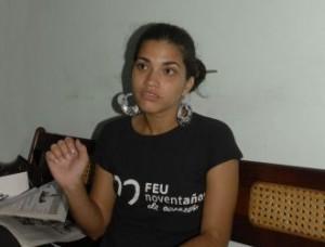 Katia Rodríguez Macias, presidenta de la FEU en la provincia.