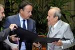 Ricardo Alarcón sostuvo un encuentro con Jean Pierre-Bel, Presidente del Senado de Francia.