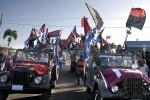 La simbólica Caravana de la Victoria a su llegada a La Habana este 8 de enero de 2013.