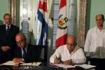 La visita de Humala concluyó con la firma este sábado de tres acuerdos.