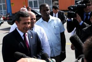 Humala hizo declaraciones a la prensa a su arribo a Cuba este viernes.