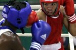 Veitía, de rojo, asegura que traerá una medalla del campeonato mundial en el 2013.