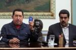 El presidente Hugo Chávez junto Vicepresidente Ejecutivo, Nicolás Maduro.