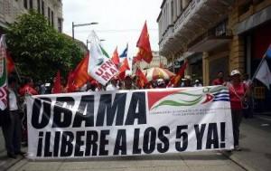 Organizaciones y movimientos de más de 25 países reclamaron la libertad de los héroes cubanos.