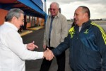 Raúl Castro despedió a la delegación venezolana en el Aeropuerto Internacional José Martí.