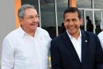 Raúl despidió en el Aeropuerto Internacional José Martí, al presidente peruano Ollanta Humala Tasso.