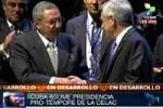 Raúl recibió del presidente de Chile, Sebastián Piñera, la responsabilidad de llevar las riendas de la Celac.