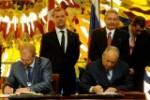 Cuba y Rusia firmaron acuerdos y convenios en varios campos, en presencia de Raúl y Medvedev.