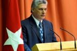 Miguel Díaz Canel durante la clausura de Pedagogía 2013.
