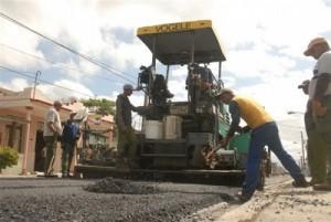 Más de 2 000 toneladas de asfalto se vertieron en ese tramo de la Carretera Central.