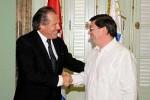 Los cancilleres de Cuba, Bruno Rodríguez, y de Uruguay, Luis Almagro.