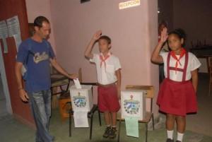Los electores espirituanos protagonizaron una jornada de apoyo al Sistema Político Cubano.