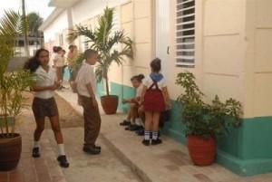 El mejoramiento constructivo llegó a todas las áreas de la escuela. (foto: Juan Antonio Borrego)