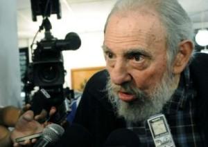 Fidel pasó hora y media dialogando con los periodistas después de ejercer el voto el pasado 3 de febrero. (foto: Ismael Francisco)
