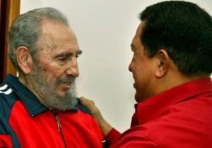 """Fidel: Todas las personas honestas del mundo han seguido de cerca """"la salud y las noticias sobre Chávez""""."""
