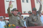 Ceremonia Militar en ocasión del aniversario 50 de la fundación de la escuela Interarmas de las FAR General Antonio Maceo.