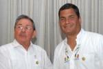 """Raúl Castro aseguró que este resultado es la """"expresión del apoyo irrevocable a la Revolución ciudadana""""."""