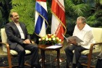Alí Saeidlo trasladó a Raúl un mensaje del presidente Mahmud Ahmadineyad.