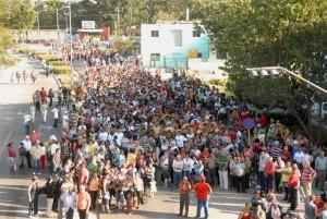 Un masivo tributo han brindado los espirituanos al presidente Hugo Chávez.