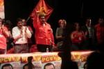 Maduro en un acto en la sede del Partido Comunista de Venezuela, organización que le ofreció su apoyo con vistas a los comicios del próximo 14 de abril.