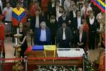 Pasada las 7:00 de la noche la Guardia de Honor estuvo presidida por los mandatarios de Bolivia, Evo Morales; Argentina, Cristina Fernández; y Uruguay, José Mujica.