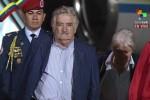 José Mujica, presidente de Uruguay, a su arribo a Venezuela.
