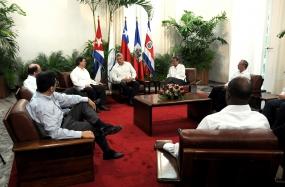 Recibe Díaz-Canel a ministros de la Troika Ampliada de la CELAC.