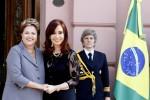 Presidentas de Brasil, Dilma Rousseff; y de Argentina, Cristina Fernández.