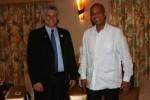 El Presidente de la República de Haití, Michel Joseph Martelly, recibió al Primer Vicepresidente de los Consejos de Estado y de Ministros, Miguel Díaz-Canel. (foto: Granma)