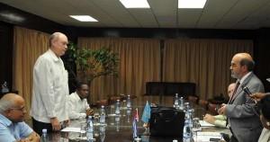 Da Silva fue recibido por el ministro del Comercio Exterior y la Inversión Extranjera, Rodrigo Malmierca.