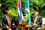 Raúl y Kenny Davis Anthony, Primer Ministro de Santa Lucia.